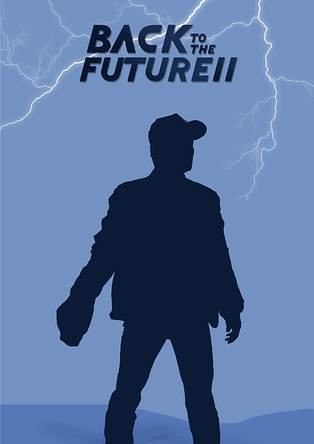 Back to the Future two poster design