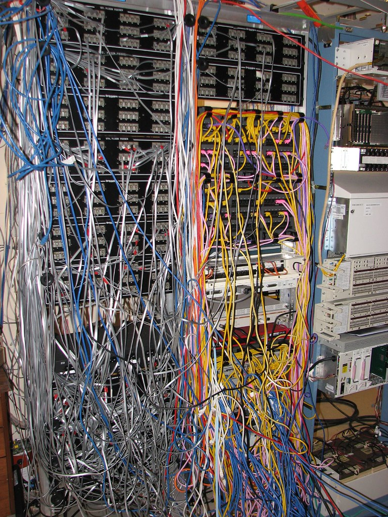 medium resolution of data center wire mess brphoto flickr network wiring mess cluster mess wiring