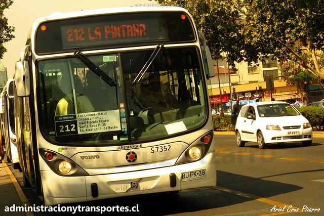 Transantiago 212   Subus   Marcopolo Gran Viale - Volvo / BJFK38
