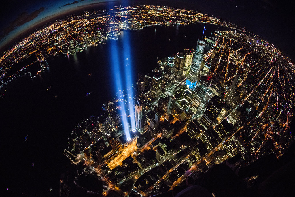 Island 3d Wallpaper September 11 Tribute In Light Aerial Photography Anthony