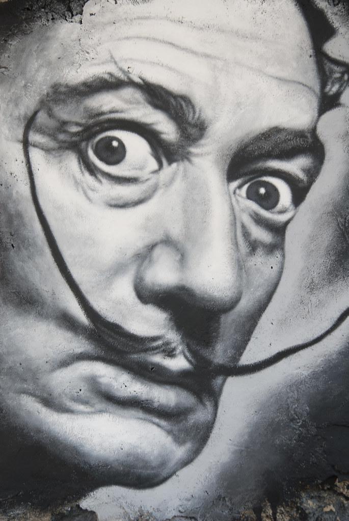 Salvador Dal painted portrait _DDC2630  Free download