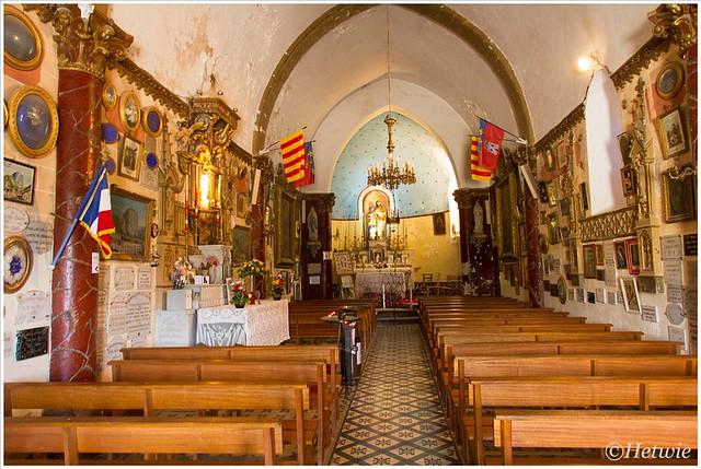 In de kapel van Notre Dame du Roc