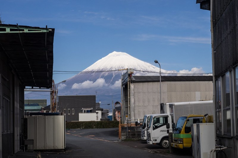 Shinkansen y monte Fuji