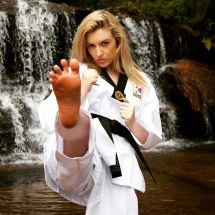 Black Woman Karate Feet