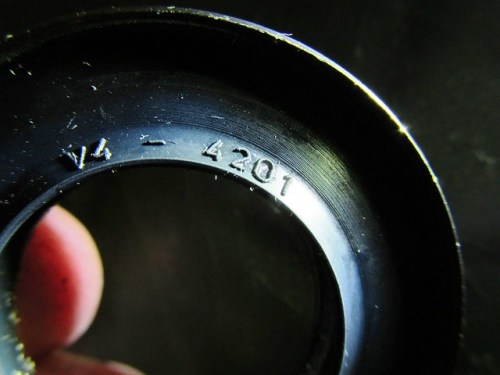 Rear Wheel Left Oil Seal Marking (Thinner One, V4-4201)