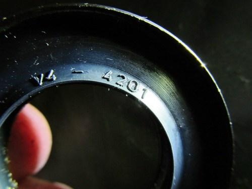 Rear Wheel Left Oil Seal Marking (Thinner One, V4-4201)