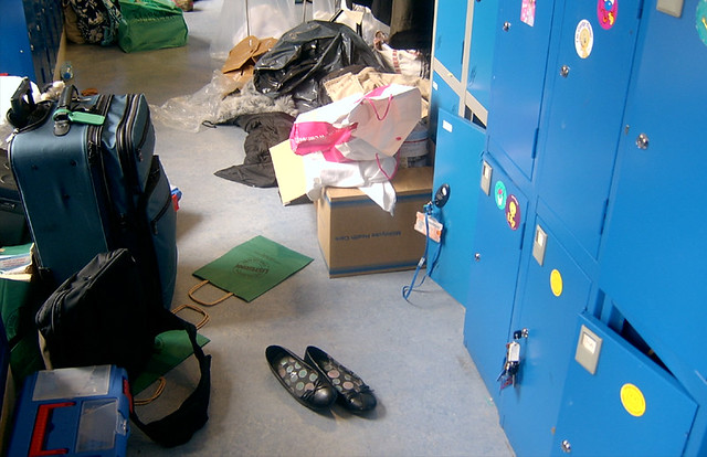Locker Room  Guess which one is mine   Its too messy