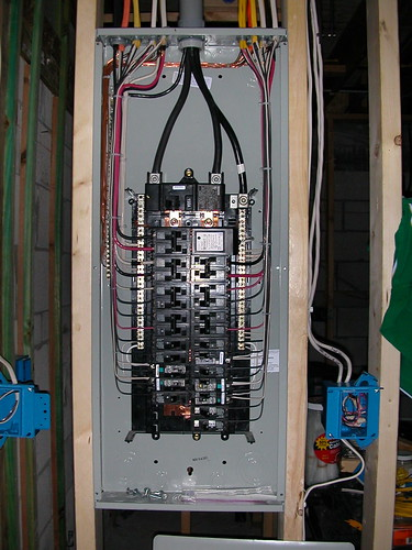 kitchen dishwasher build table electrical panel finished | siemens 30/40 150 ampere main ...