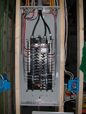 Electrical panel finished | Siemens 3040 150 ampere main