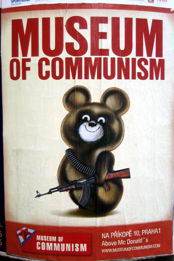 Museum of Communism  Not sure what guntoting teddy has