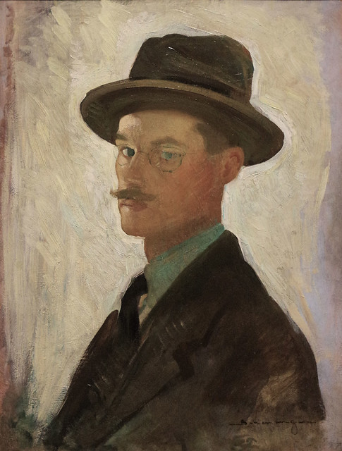 Self-Portrait, ca. 1911, Oil on panel, Morton Livingston Schamberg, Crystal Bridges Museum of American Art, Bentonville, Arkansas, August 1, 2015