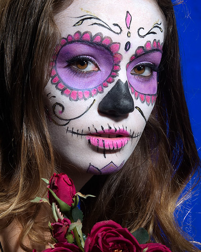 Super-Duper Close-Up of Victoria, Day of the Dead Photoshoot