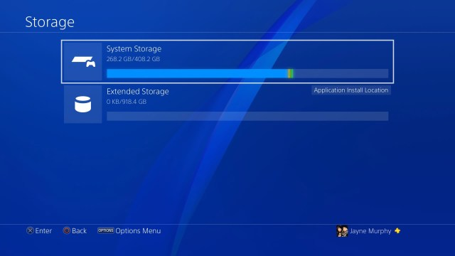 upgrade PS4 system storage to 2tb using the exteded storage feature