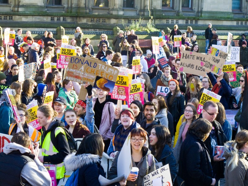 Manchester Marches Against Trump