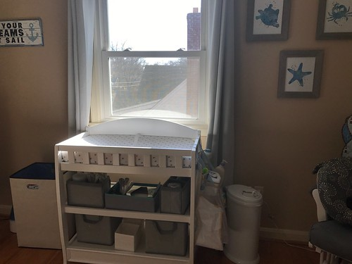 natural nautical nursery changing table