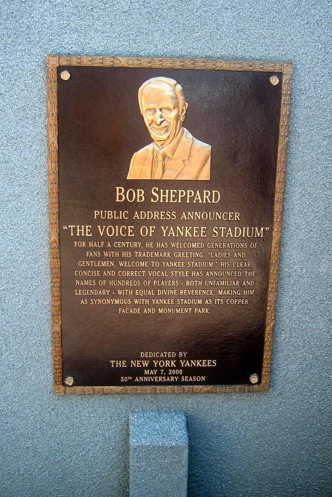 Yankee Stadium Monument Park  Bob Sheppard plaque  Flickr