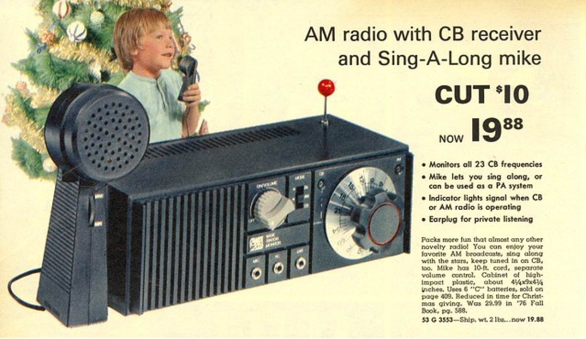 AM Radio with CB Receiver and Sing-a-Long Mike - Montgomery Ward Christmas Catalog - 1976