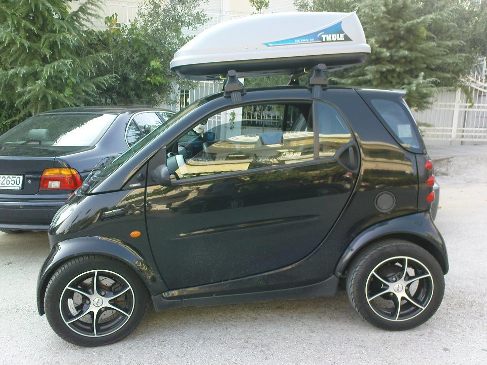 Smart 450 for two roof rack
