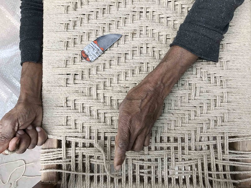 City Culture - The Art of Seat Weaving, Near Tolstoy's Statue
