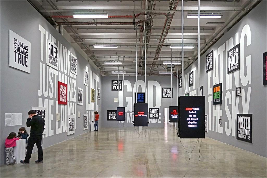 Salle de posie sonore et visuelle exposition I love John  Flickr