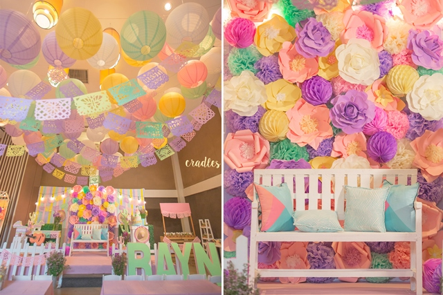 There Simply Is No Scarcity Of Cute Festoons At This Party Tables Were Brightened Up With The Same Pastel Colored Mexican Elements