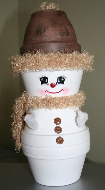 Crafts Clay Pots Snowman 2005 I Love Making Thing