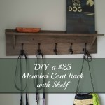 Turtles And Tails Wall Mounted Coatrack With Shelf Diy For
