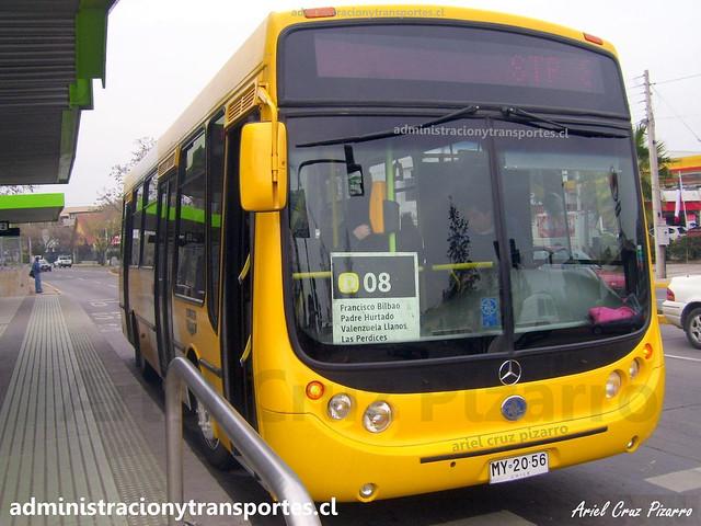 Transantiago D08 | STP Santiago | Metalpar Tronador - Mercedes Benz / MY2056