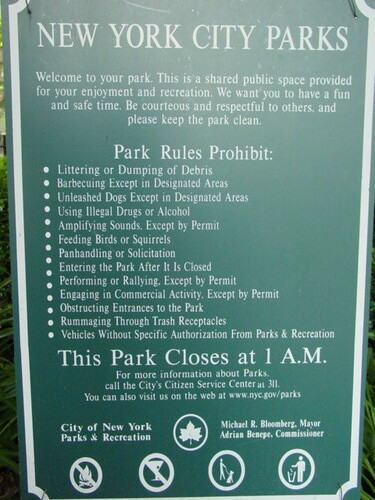 NYC Park Rules  These are all the things you cant do in th  Aaron  Flickr