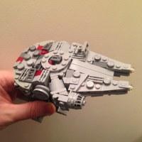 Custom Lego Mini Millennium Falcon | Unashamedly lifted ...