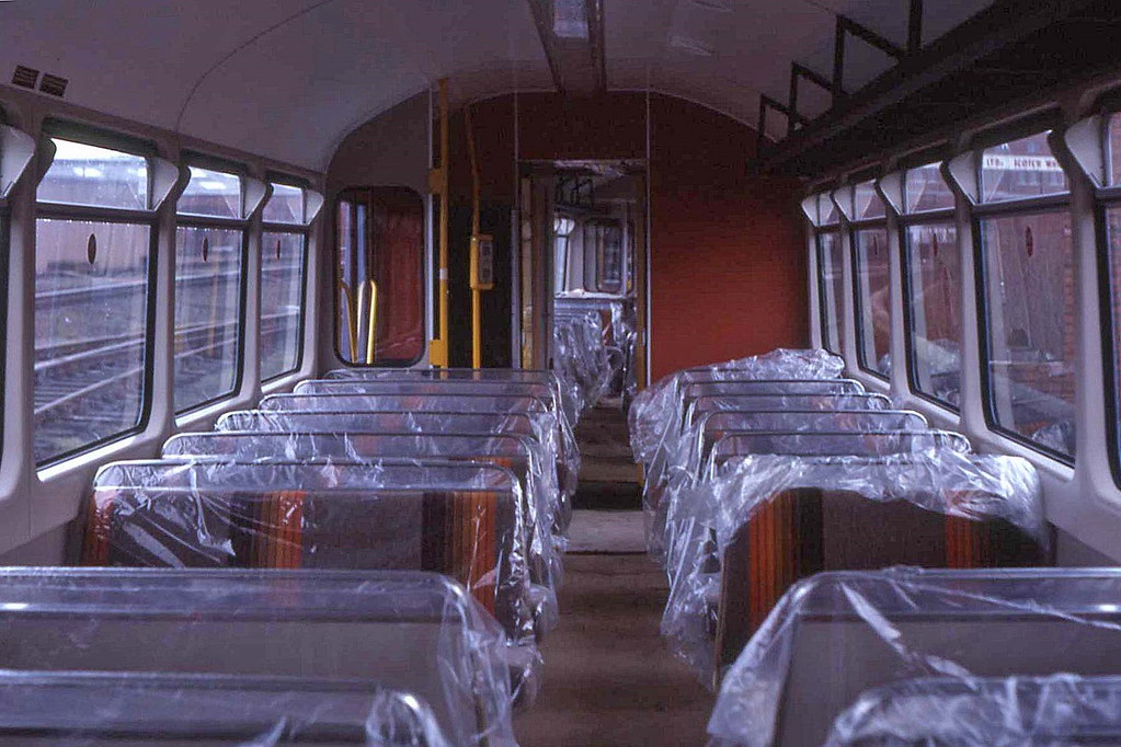 Class 143 interior 1986  With the polythene still on the s  Flickr