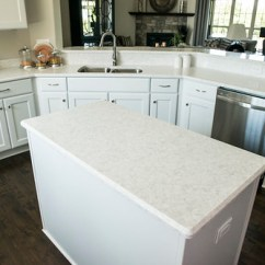 Building Kitchen Island Cabinet Door Moulding Corian® Quartz (formerly Zodiaq®) Stratus White   ...