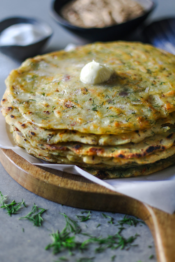 Akki Rotti/ Rice-Dill Rotti (gluten free) |foodfashionparty| #glutenfree #flatbread
