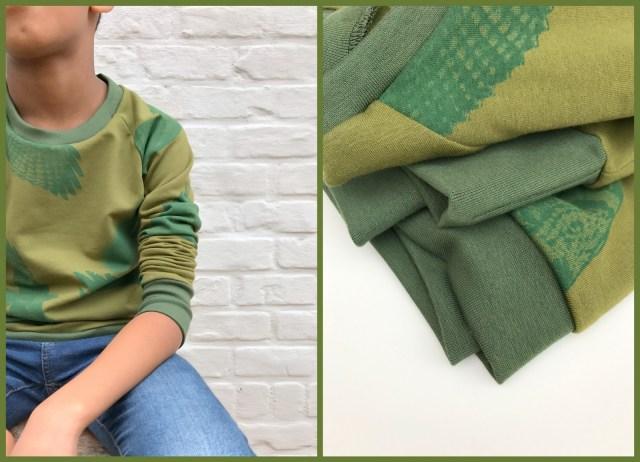 mean green sweater (collage)
