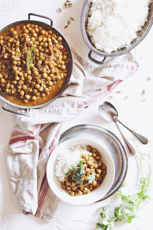 curried chickpeas