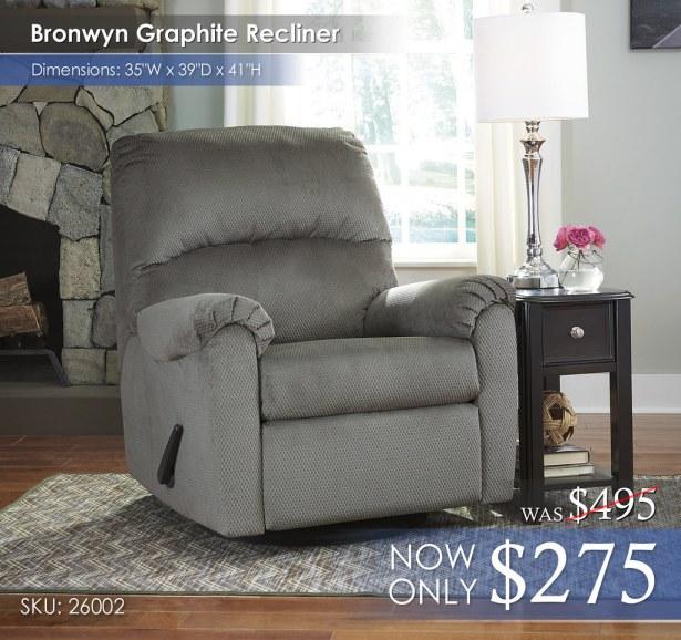 Bronwyn Graphite Recliner 26002-61-T007-371