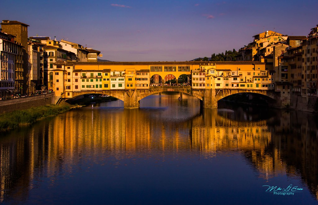 Ponto Vecchio At Sunset  Florence Italy  Ponte Vecchio Br  Flickr