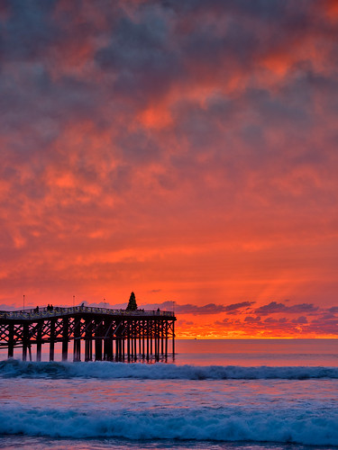 Vibrant Sunset at San Diegos Ocean Beach  During my
