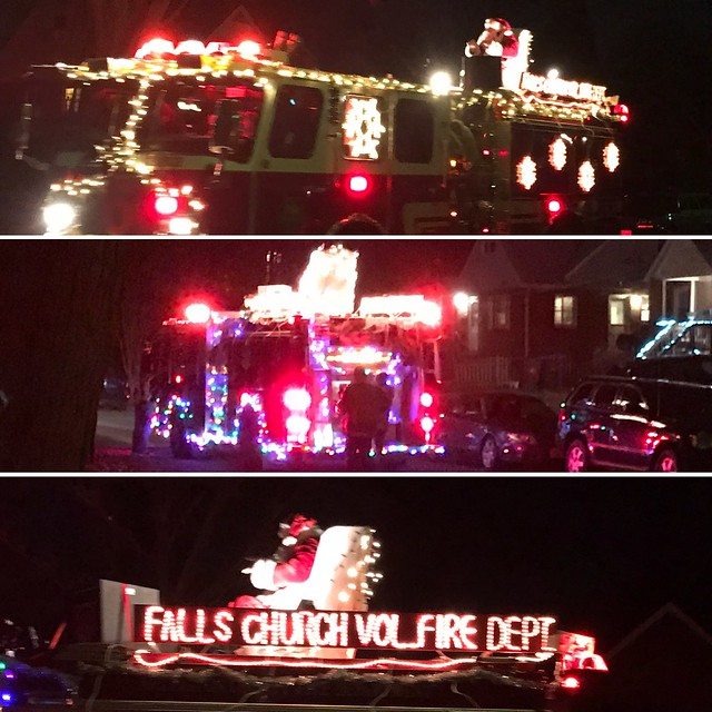 Falls Church Volunteer Fire Department Santa Mobile 2016