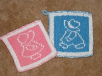 Knitted pot holders | Flickr - Photo Sharing!