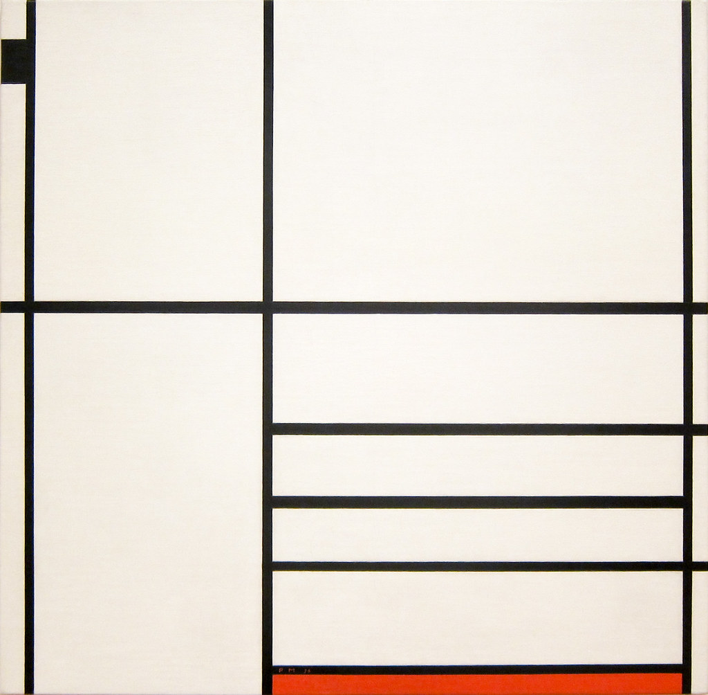 Piet Mondrian Composition in White Black and Red 1936