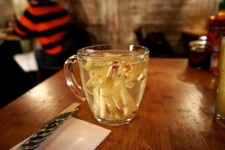 Mug of lemongrass tea