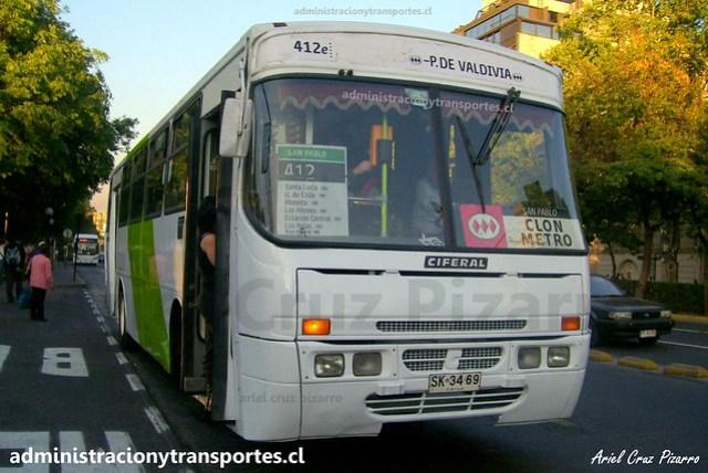 Transantiago 412 | Express | Ciferal GLS - Mercedes Benz / SK3469
