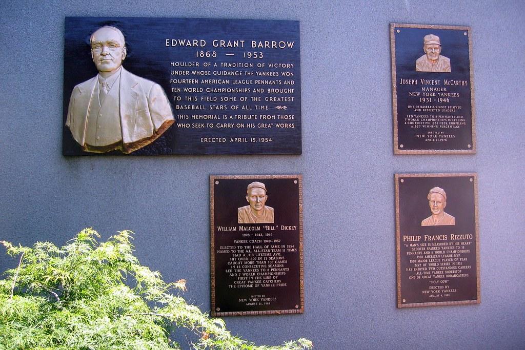 Yankee Stadium Monument Park  Plaques  Edward Barrow J  Flickr