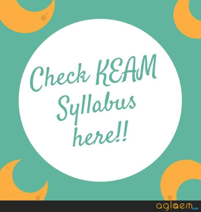 KEAM 2019 Syllabus