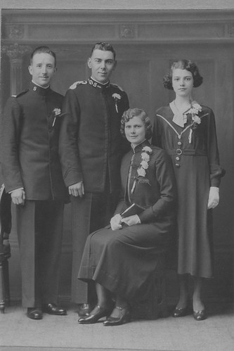 Salvation Army wedding 1920  This photograph illustrates