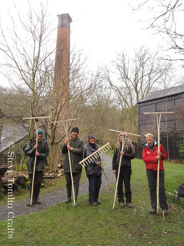 Wooden hay rake workshop