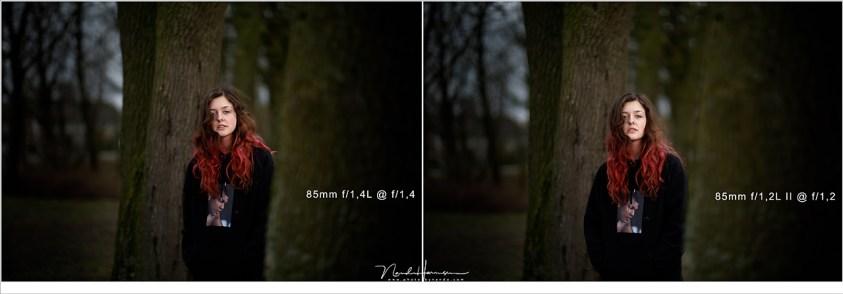 vergelijk ef85L mm canon