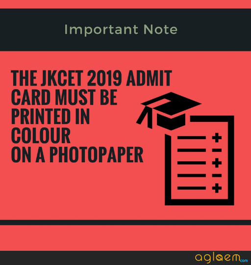 JKCET 2019 Admit Card