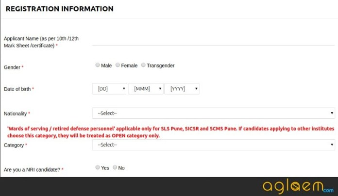 SET Law 2018 Form / Registration - Symbiosis SLAT 2018 Application Form  %Post Title   AglaSem